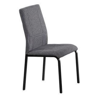 【東京家居】安士姆黑色灰布餐椅
