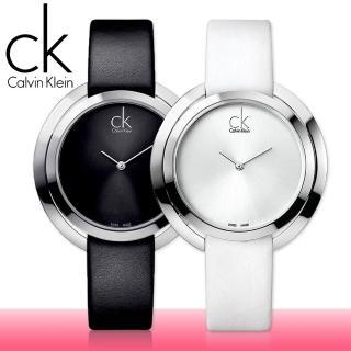 【瑞士 CK手錶 Calvin Klein】甜蜜造型 皮革款女錶(K3U231C1-K3U231L6)