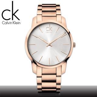 【瑞士 CK手錶 Calvin Klein】甜蜜玫瑰金 強化玻璃 不鏽鋼男錶(K2G21646)