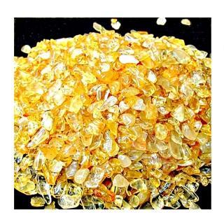 【紅運當家 12H】清透黃 招財黃水晶碎石 淨重1000公克(粗顆粒)