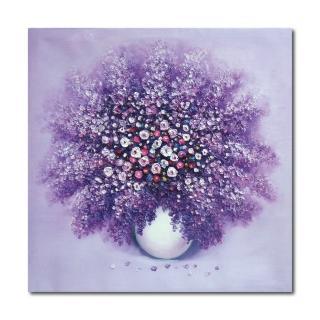 【24mama 掛畫】單聯式 花卉藝術無框畫 30x30cm(紫戀)