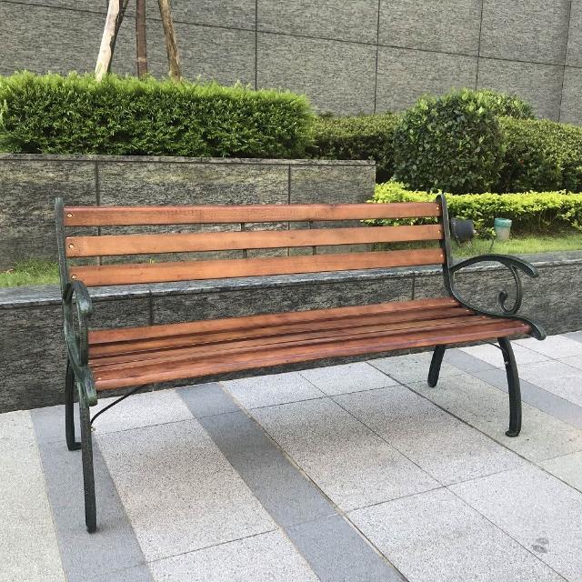 【BROTHER 兄弟牌】米蘭典雅雙人鑄鐵公園椅(戶外傢俱)