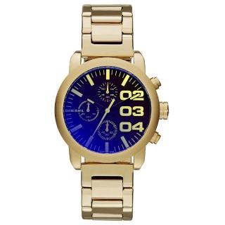 【DIESEL】強悍自我時尚三眼計時腕錶-金x鍍膜玻璃(DZ5467)