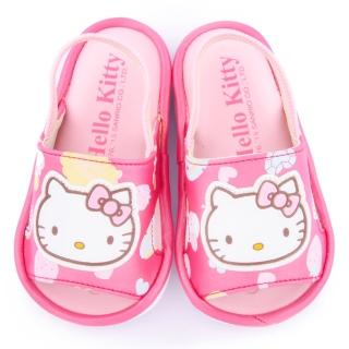 【三麗鷗】Hello Kitty 小童 嗶嗶後帶拖鞋(815701-桃)
