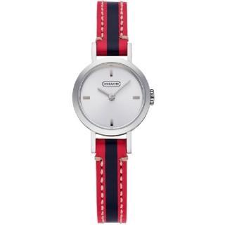 【COACH】Signature Studio 流行撞色時尚腕錶(桃紅+藍-23mm-CO14501579)