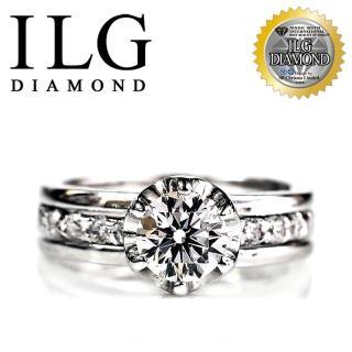 【ILG鑽】頂級八心八箭擬真鑽石戒指-主鑽1克拉 完美情人款 RI021 結婚求婚首款(白K金色)