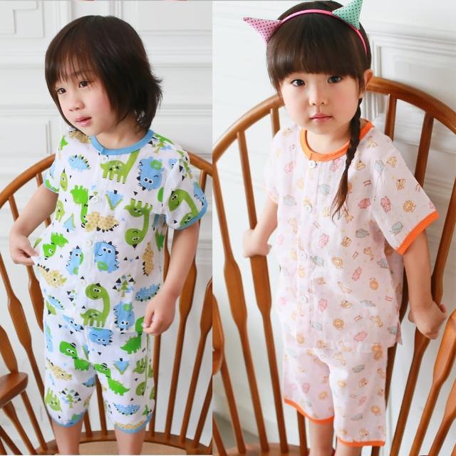 【baby童衣】兒童套裝 薄涼透氣卡通居家服 51008(共四色)