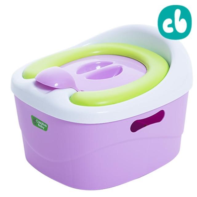 【美國Creative Baby】多功能三合一學習軟墊馬桶-紫色