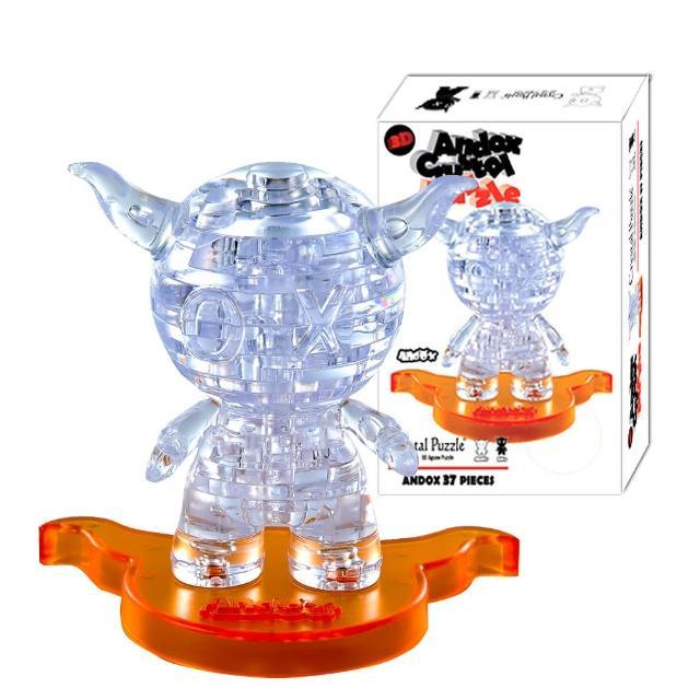 【3D立體水晶拼圖】3D Crystal Puzzles 安逗Andox(8cm系列-36片)