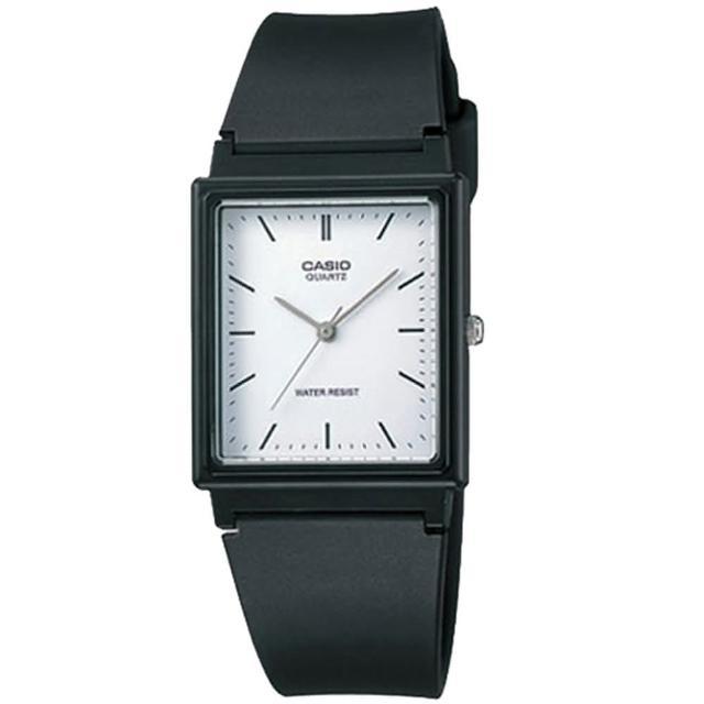 【CASIO 卡西歐】時尚簡約方形指針錶(MQ-27-7EDF)