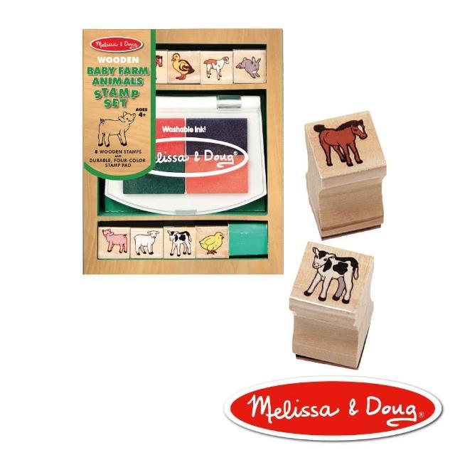 【美國瑪莉莎 Melissa & Doug】木製印章組(農場動物)