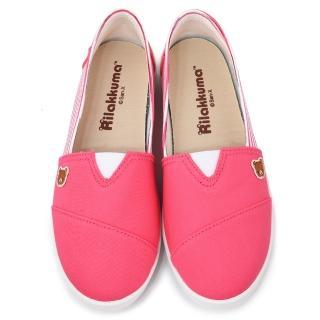 【童鞋城堡】拉拉熊 女款 經典款休閒帆布鞋(KM8245-桃)