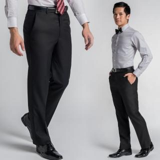 【極品西服】低調沉穩仿毛修身平面西褲 黑(BS441-1)