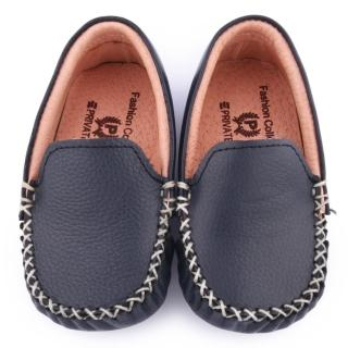 【童鞋城堡】二等兵 中小童 全真皮手工縫製休閒鞋(5801-藍)