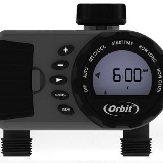 【灑水達人】美國ORBIT雙區自動定時灑水器一進雙出雙迴路適合大範圍