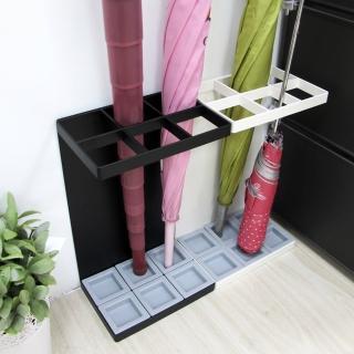 【ikloo宜酷屋】日式簡約傘架-長型6格鐵板