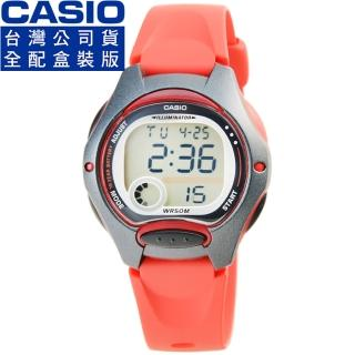 【CASIO】卡西歐鬧鈴多時區兒童電子錶-紅(LW-200-4A)