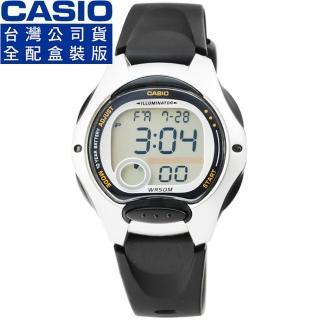 【CASIO】卡西歐鬧鈴多時區兒童電子錶-黑(LW-200-1A)