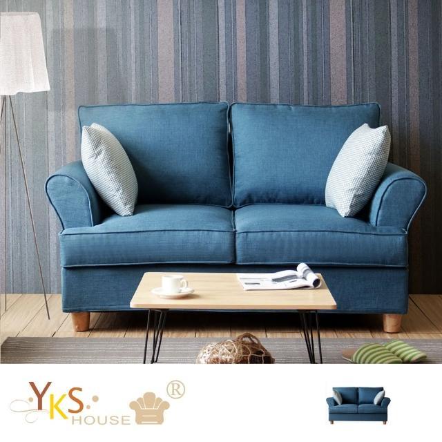 【YKSHOUSE】挪威雙人座布沙發-獨立筒版