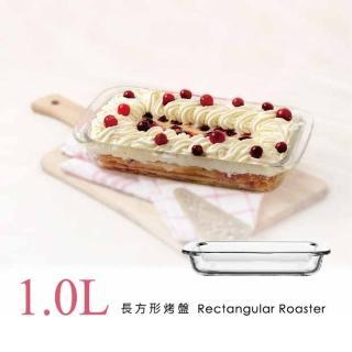 【SYG台玻】耐熱玻璃長方形烤盤(1L)