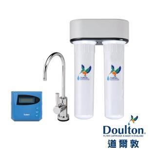 【DOULTON英國道爾敦】陶瓷濾芯顯示型雙管塑鋼櫥下型淨水器(DIP-M12)