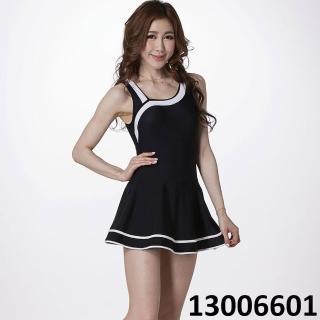 【Bich Loan】SPA/戲水大女連身裙泳裝(附泳帽13006601)