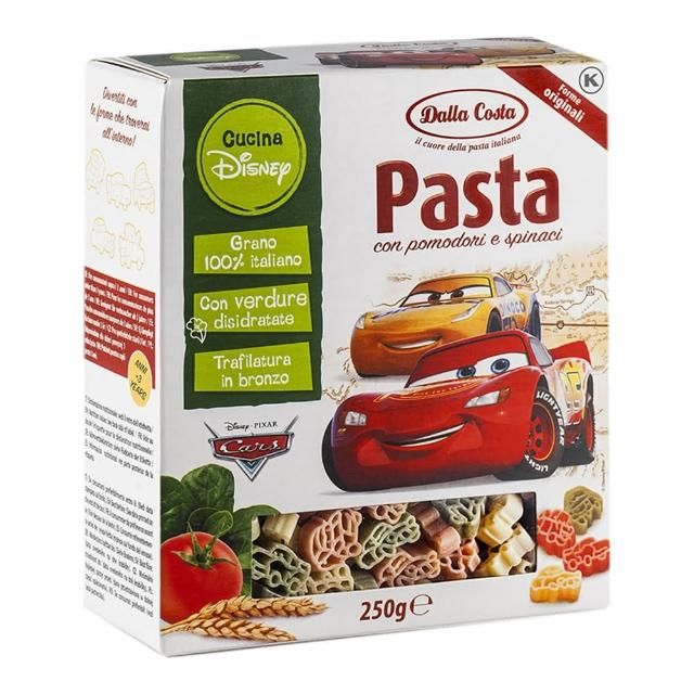 【Dalla】達樂迪士尼汽車義大利麵盒裝250g(歐洲第一造型義大利麵)