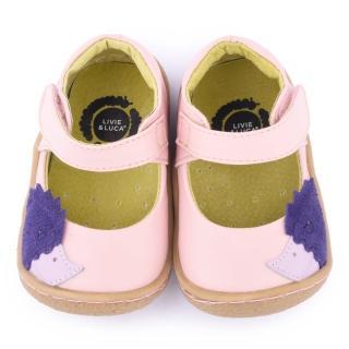 【美國LIVIE & LUCA】小童 真皮手工刺蝟休閒鞋(Z016-粉)