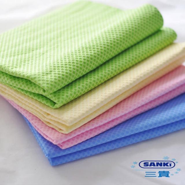 【日本三貴】冰涼毛巾4入 2藍 2綠(2藍 2綠)