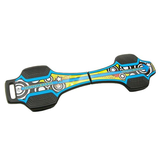 【韓國 LANDWAY】發光輪活力蛇板 蛇行滑板 BL(藍黃)
