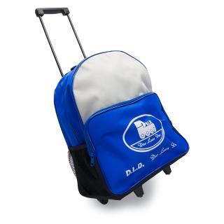 【D.L.D多輪多】專業直排輪 溜冰鞋 專用拉桿包(藍灰色)