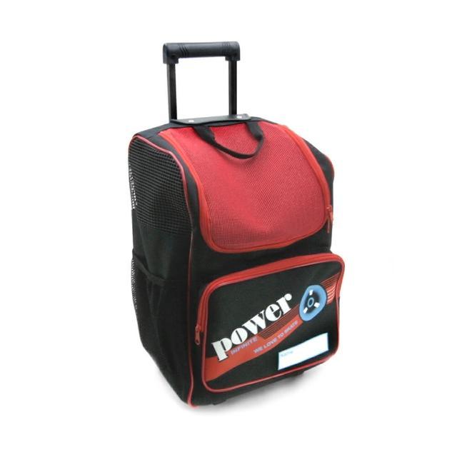【D.L.D多輪多】專業直排輪 溜冰鞋 專用拉桿包 大拉桿袋(黑紅)