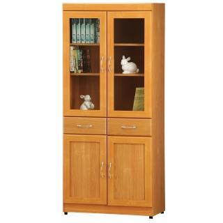 【時尚屋】豪豐2.6x6尺2門2抽書櫃(RC5-A52)