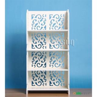【Osun】DIY木塑板置物架 歐式白色雕花四層巴洛克經典款(CE-178-8040)