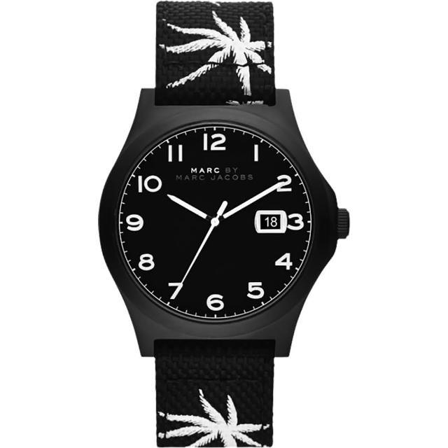 【Marc Jacobs】Jimmy 熱帶棕櫚時尚腕錶-黑(MBM5088)