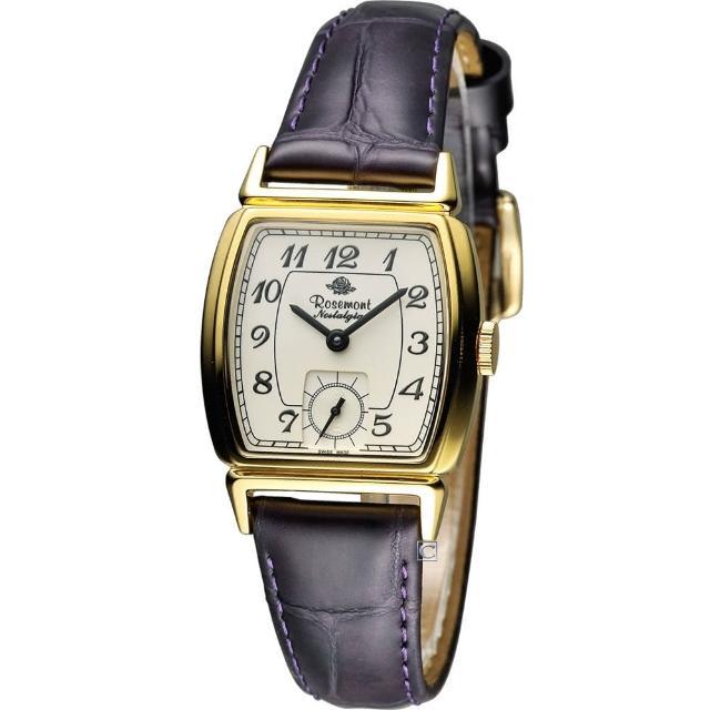 【Rosemont】戀舊系列 酒桶型時尚腕錶(TN005-YW-DPU 紫)
