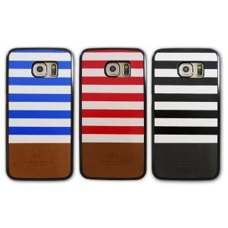 【kajsa】Samsung S6 Edge 海軍風格條紋保護殼