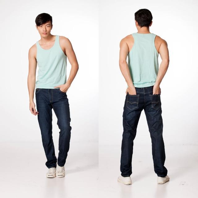 【RH】帥氣玩酷小直筒牛仔褲(深藍全尺碼28到38)