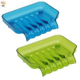 【月陽】彩色透明導流式吸盤肥皂盒超值2入(1166)