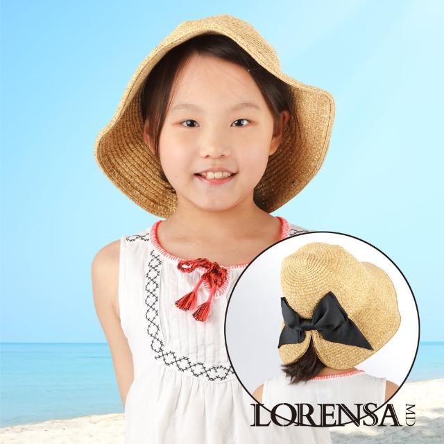 【Lorensa蘿芮】親子款蝴蝶結開叉帽簷自在綁髮抗UV遮陽帽(兒童款)