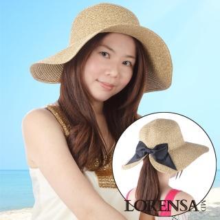 【Lorensa蘿芮】親子款蝴蝶結開叉帽簷自在綁髮抗UV遮陽帽(成人款)