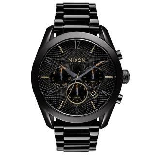 【NIXON】THE BULLET CHRONO先鋒計時網紋腕錶-黑(A3661616)
