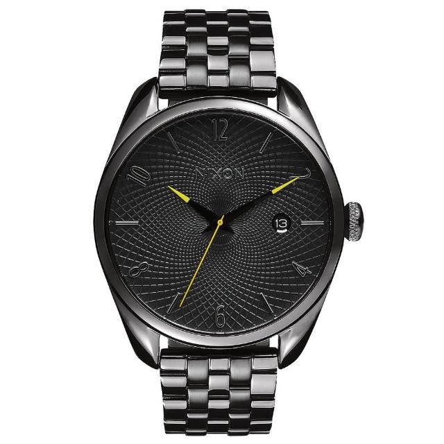 【NIXON】THE BULLET CHRONO先鋒網紋腕錶-灰亮面(A4182090)