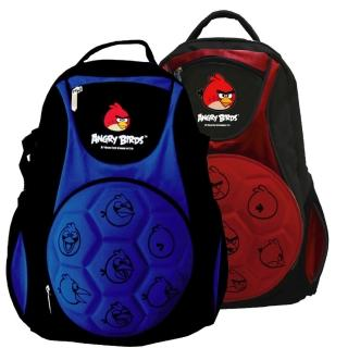 【Angry Birds憤怒鳥】足球造型硬殼書背包(紅/藍 AB_6019)