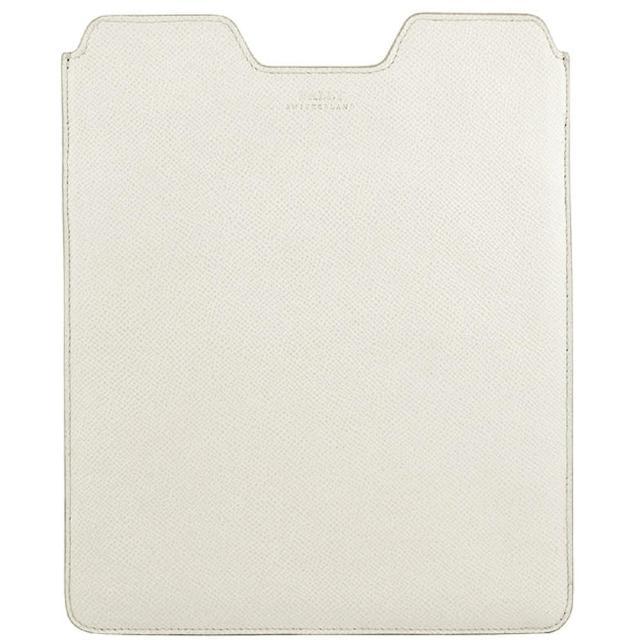 【BALLY】牛皮壓紋iPad保護套(白色)