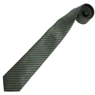 【極品西服】DuPont禦漬防潑水‧義大利100%絲質領帶 精品態度 耿直綠直條(YT0091)
