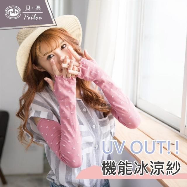 【PEILOU】冰涼紗防曬袖套-荷葉愛心