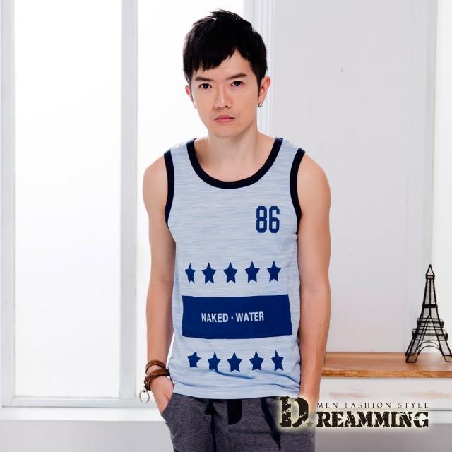 【Dreamming】韓系時尚混色五星輕薄舒適背心(共三色)