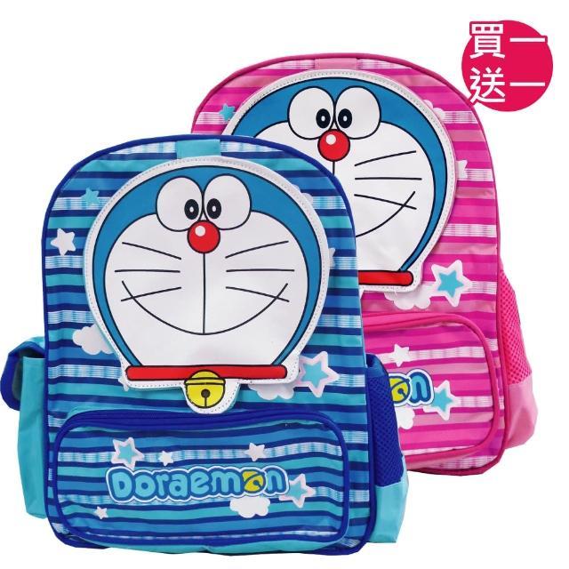 【買一送一】哆啦A夢造型兒童書背包(藍/粉桃_DO4183)