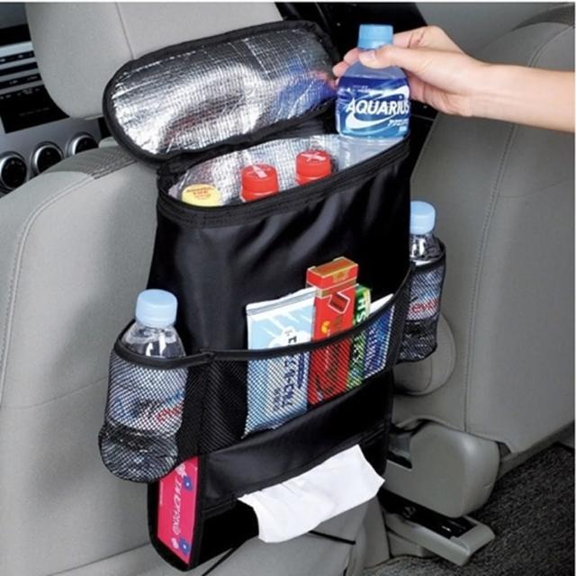 車用椅背置物保冷袋/保溫袋(面紙盒功能)站長推薦